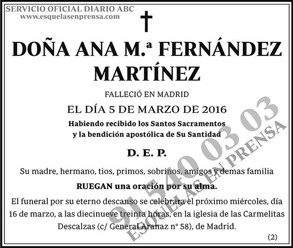 Ana M.ª Fernández Martínez